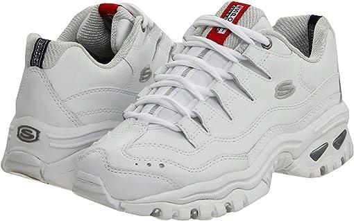 White Mesh/Leather