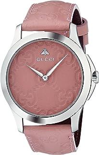 Gucci - Reloj Análogo clásico para Mujer de Cuarzo con Correa en Cuero YA1264030