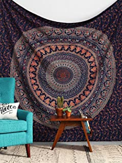 Jasion Indian Mandala Tapestry Hippie Bohemian Psychedelic Wall Hanging Art for Home Headboard Bedroom Living Room Dorm Decor in 51x60 Inches