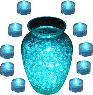 Submersible LED Decor Tea Light * Wedding or Events * (Pack of 10) - Teal