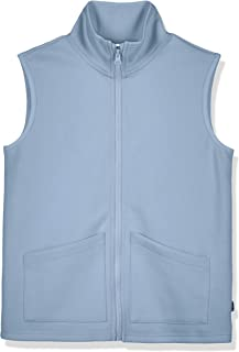 Kid Nation Kids' Interlock Zip-up Vest with Patch Pockets for Boys and Girls