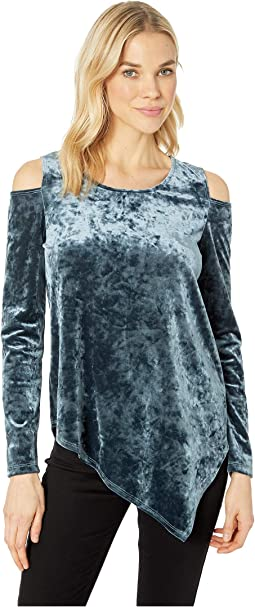 Crush Velvet Cold Shoulder Top