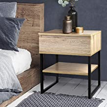 Bedside Table, Artiss Industrial Nightstand Sofa Side Cabinet