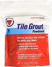 SAVOGRAN CO 12841 Tile Grout, 1 lb, White