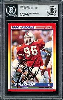Cortez Kennedy Autographed 1990 Score Rookie Card 299 Seattle Seahawks Beckett BAS 11483064