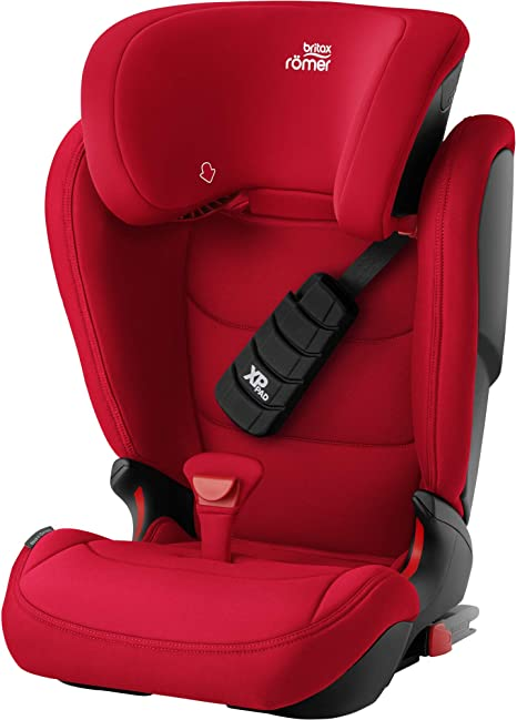 Britax Römer Car Seat KIDFIX Z-LINE, ISOFIX, Group 2/3 (15-36 kg),Child 3.5 to 12 Years Old, Fire Red: image