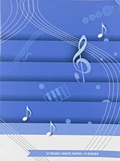 carta bianca 32 pp 12 righi Quaderno di musica