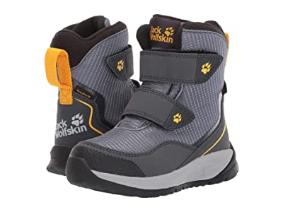Jack Wolfskin Kids Polar Bear Texapore High VC (Toddler/Little Kid/Big Kid) (Pebble Grey/Yellow) Boys Shoes
