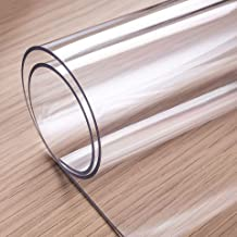 OstepDecor Custom 1.5mm Thick Clear Table Cover, 90 x 42 Inch, Table Protector for Dining Room Table, Clear Table Cover Protector, Tablecloth Protector, Clear Table Cloth