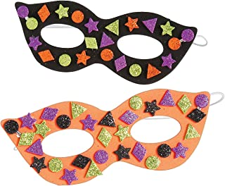 Foam Glitter Halloween Mask Craft Kit-makes 12