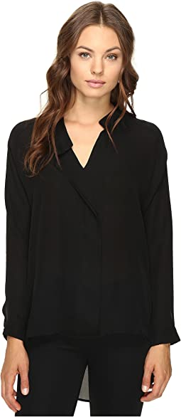 HEATHER - Long Sleeve Silk Collared Blouse