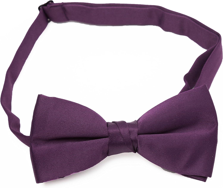 "Frankers Boy's 2"" Poly Satin Solid Color Adjustable Pre-tied Bow Tie"