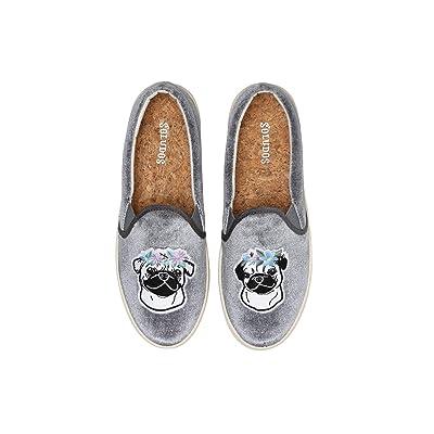 Soludos Flower Pug Slip-On Sneaker (Grey) Women