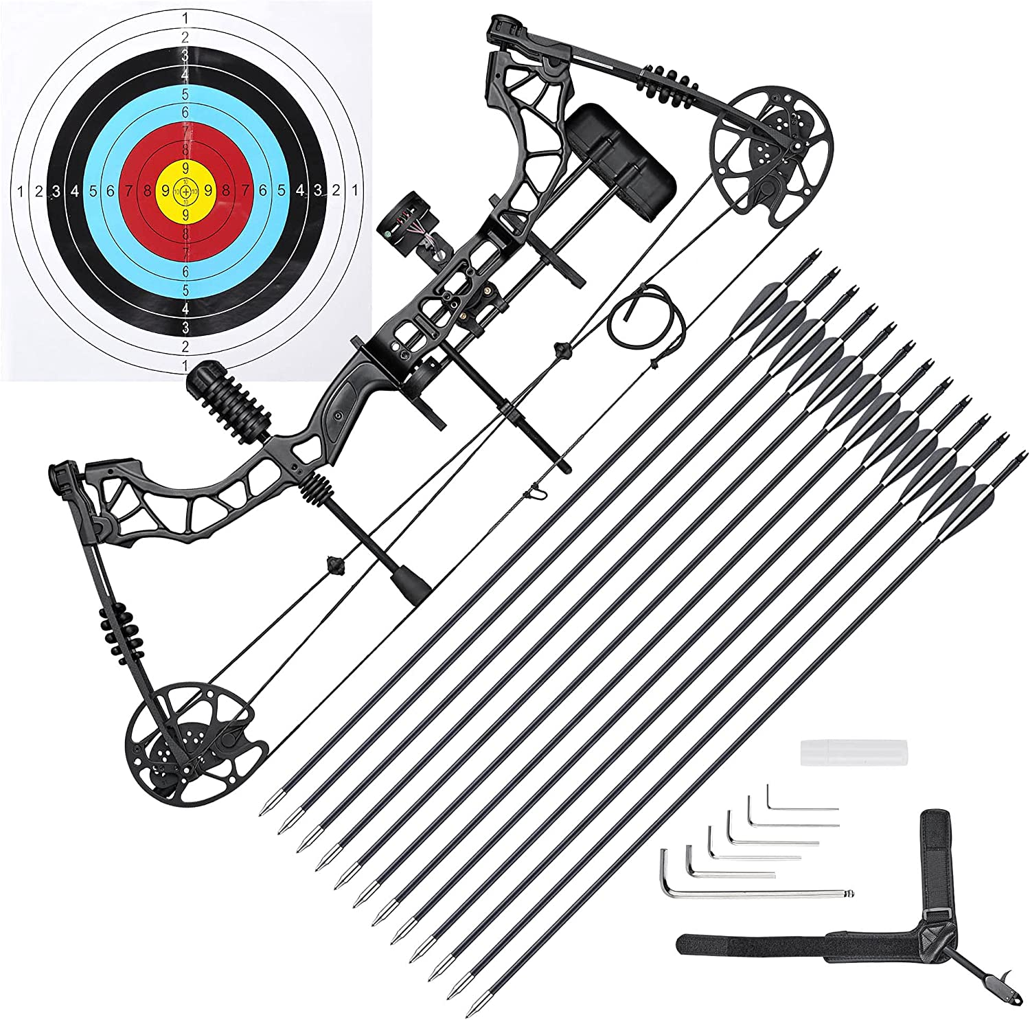 AW 70 Lbs Pro Compound Bow All items in the store Bargain sale Practice Kit Target Hand Right Huntin