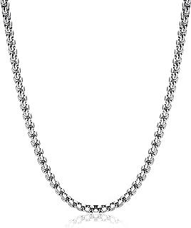 قلادة مربعة الشكل من الفولاذ المقاوم للصدأ من Monily 2-7 مم 16-38 بوصة مربع قلادة دائرية للرجال والنساء مجوهرات