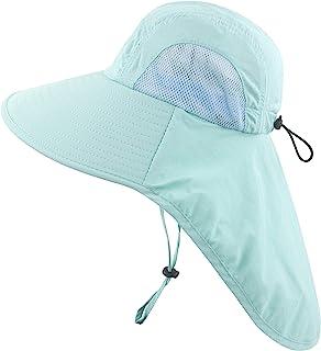 Muryobao Kids Girls Boys Sun Hat Wide Brim UPF50+ Mesh Hats with Neck Flap