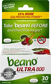 beano Ultra 800 Gas Prevention, Bloating Relief, 30 Tablets, Packaging May Vary