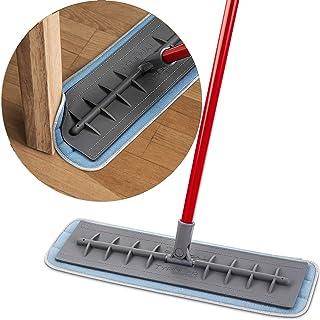 Tyroler Bright Tools Mopa de Microfibra para Usar Seca y Húmeda (45 cm de Ancho) Cabeza de Silicona Flexible   Limpieza Profesional del Hogar para Suelo de Madera, Laminado, Baldosas, Cocina, Baño