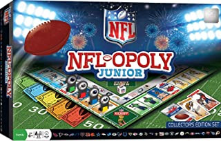 MasterPieces NFL-Opoly Junior Board Game, Collector`s Edition Set, For 2-4 Players, Ages 6+