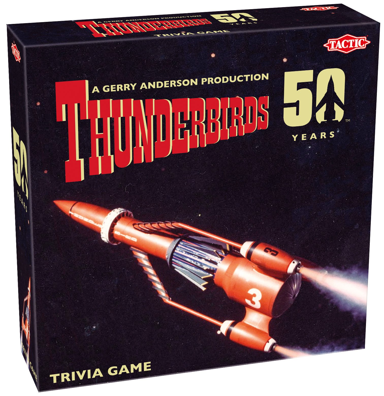 Tactic Games UK Thunderbirds Classic - Juego de Mesa de Trivial, 50 Aniversario: Amazon.es: Juguetes y juegos
