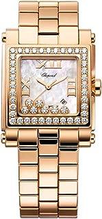 Chopard Happy Sport Rose Gold Diamonds Square Quartz Medium Ladies Watch 275322-5002