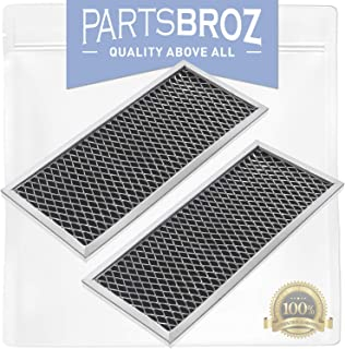 WB02X10956 (Pack of 2) Charcoal Filters for Whirlpool Microwaves by PartsBroz - Replaces Part Numbers AP3204832, 1057486, AH951943, EA951943, JX81H, PS951943