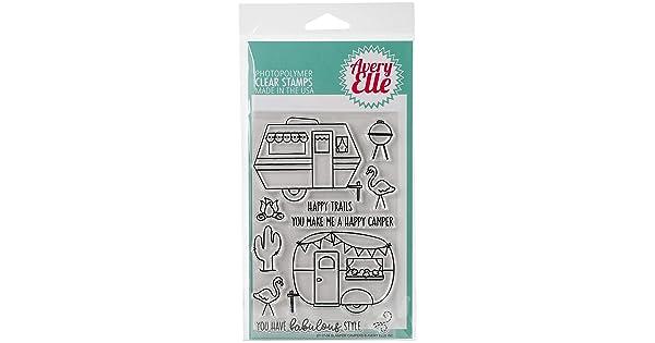 Avery Elle ST-17-09 Clear Stamp Set 4X6-Glamper Campers
