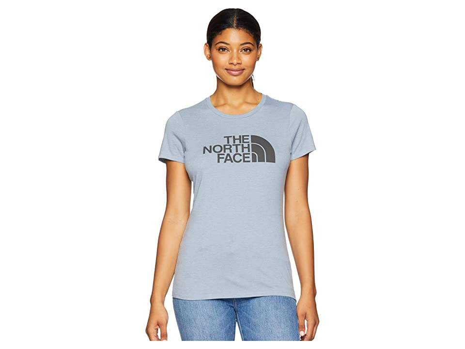 The North Face 1/2 Dome Tri-Blend Crew Tee (Gulf Blue Heather/Asphalt Grey) Women