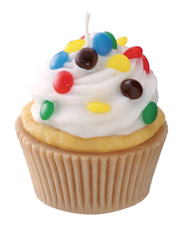 変形何でも挑発するカメヤマキャンドルハウス 本物そっくり! アメリカンカップケーキキャンドル ホワイトクリーム チョコレートの香り