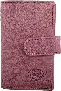 Womens Leather Bi-Fold RFID Purse/Money/Coin Holder Croc Design
