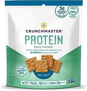 Crunchmaster Protein Snack Crackers, Sea Salt, 3.54 Ounce