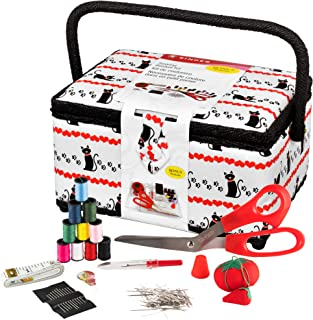 SINGER Sewing Basket with Notions - Pet Trax Kitty