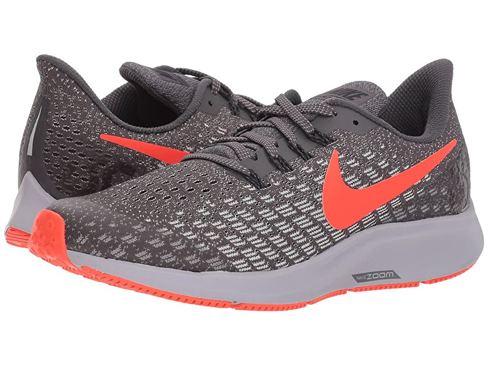 Nike Kids Air Zoom Pegasus 35 (Little Kid/Big Kid) (Thunder Grey/Bright Crimson/Phantom) Boys Shoes