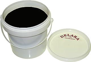 DELARA Cera para Muebles yoyoba y Cera de Abeja y Fragancia a Vainilla. Color: Negro - Made in Germany