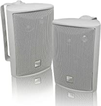 Best Dual Electronics LU43PW 3-Way High Performance Outdoor Indoor Speakers with Powerful Bass | Effortless Mounting Swivel Brackets | All Weather Resistance | Expansive Stereo Sound Coverage | Sold in Pairs,White Reviews
