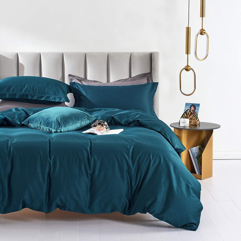 MILDLY 100% Ranking TOP7 Egyptian Cotton Duvet Cover Many popular brands Morden Blue Peacock Bedd