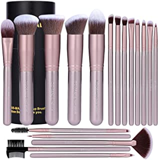 BS-MALL Makeup Brush Set 18 PCS Premium Synthetic Kabuki Foundation Eyebrow Eyeshadow Concealer Blending Eyeliner Comestic...