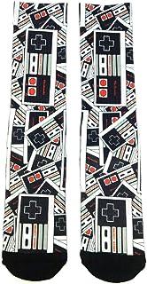 Nintendo NES Classic Controller Sublimated All Over Print Men's Crew Socks
