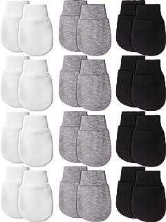 12 زوجًا من قفازات الأطفال حديثي الولادة من القطن بدون خدش قفازات للأطفال من عمر 0-6 أشهر للأطفال الأولاد والبنات