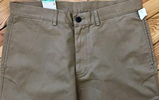Haggar Men's Straight Fit Comfort Waist Chino Pants