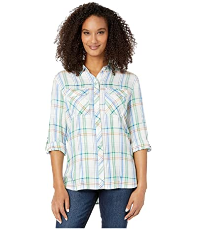 Vince Camuto Long Sleeve Relaxed Utility Shirt (Pistachio) Women