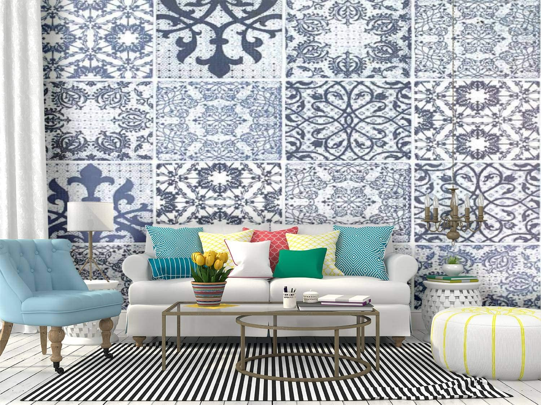 Max 56% OFF Very popular Kanworse Tile Canvas Print Wallpaper Self Mural Wall Adhesive Pe