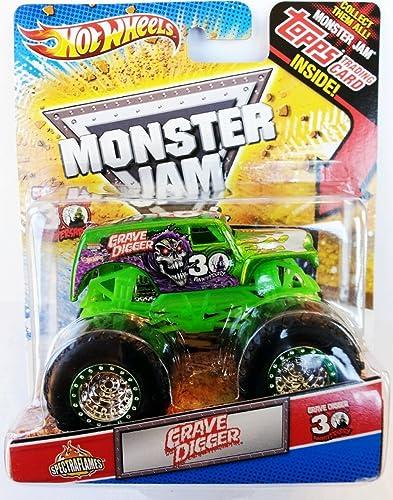 Monster Jam 2012 Größe Digger Grün Spectraflames Topps 30th Anniversary by Mattel