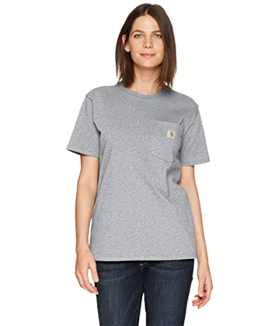 Carhartt WK87 Workwear Pocket Short Sleeve T-Shirt (Heather Gray) Women