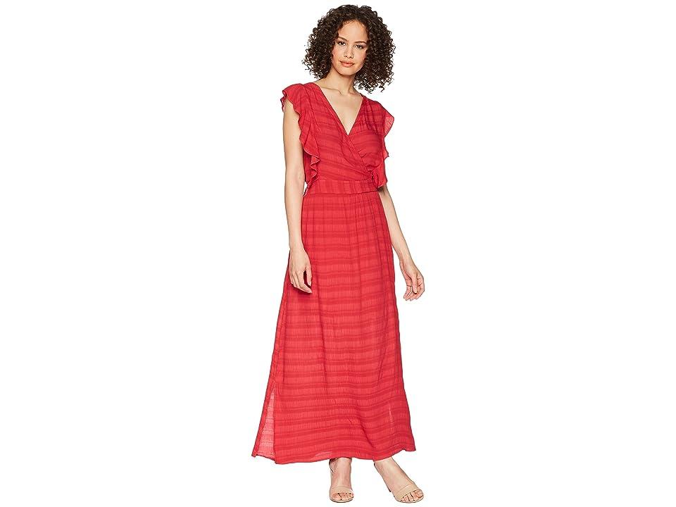 Michael Stars Plisse Ruffle Maxi Dress (Hacienda) Women