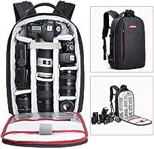 BESCHOI - Mochila para cámara réflex Digital, Impermeable, para cámaras Sony, Canon, Nikon, Olympus SLR/DSLR y cámaras de Fotos, Lentes y Accesorios, Color Negro (Grande)