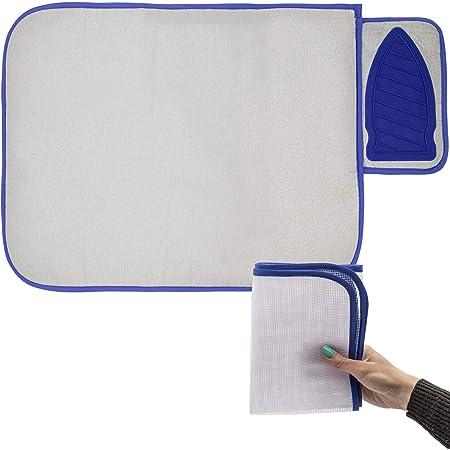 ESTETHI Manta de Planchar con Almohada de Silicona, práctica para Viajar con Malla de Planchado Protectora - 71 cm x 50 cm