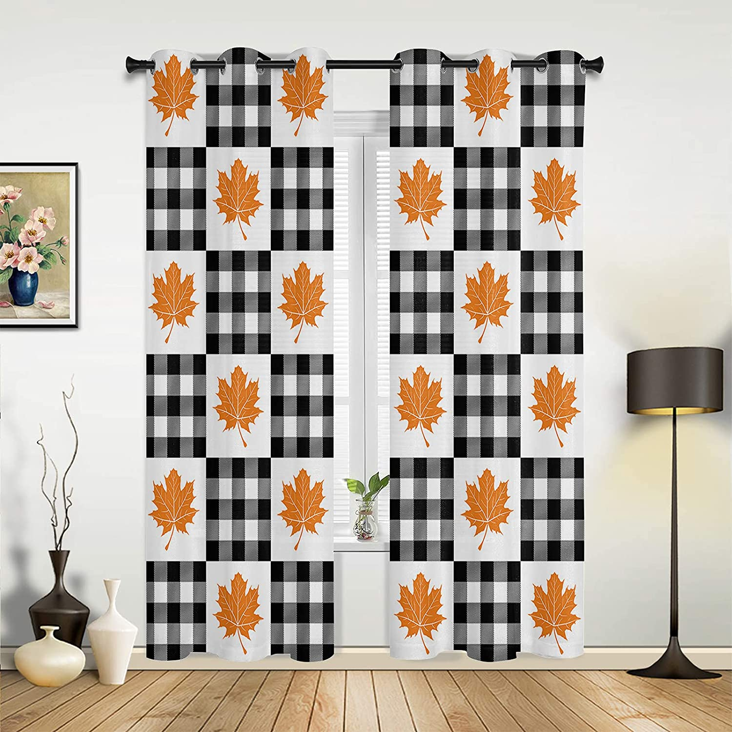 Window famous Sheer Portland Mall Curtains for Bedroom Day Living Thanksgiving Room A