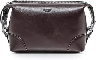 Hackett Men's Leather H Wash Bag Brown