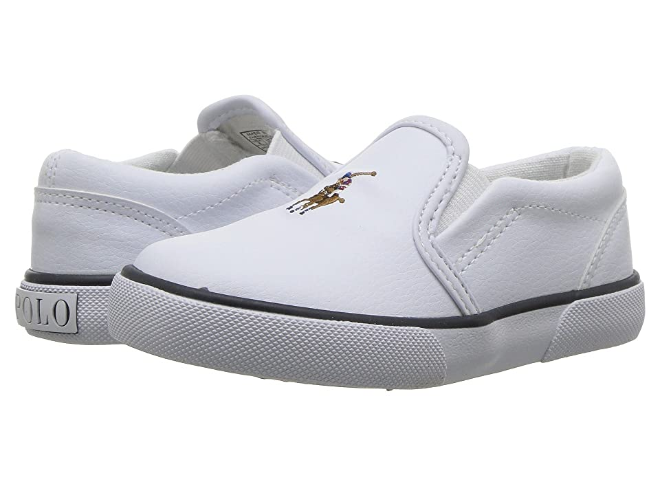 Polo Ralph Lauren Kids Bal Harbour II (Toddler) (White Tumbled/Multi Pony Player) Boy